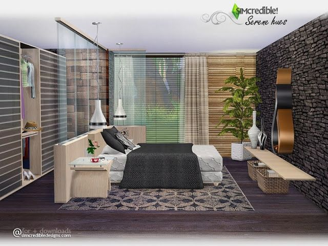 Sims 4 CC\'s - The Best: Bedroom by SIMcredible! | Sims haus ...