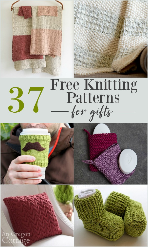 37 Easy Free Knitting Patterns for Gifts | An Oregon Cottage
