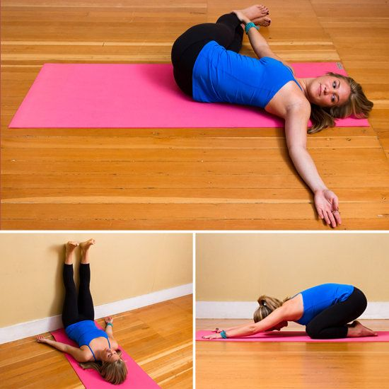 Easy and Relaxing Yoga Poses // PopSugar. At the end of a long day, taking a little time for some rest and relaxation can make huge difference in lowering your high stress levels — not to mention your quality of sleep. Each of these poses is worth a shot, regardless of your yoga level or experience.