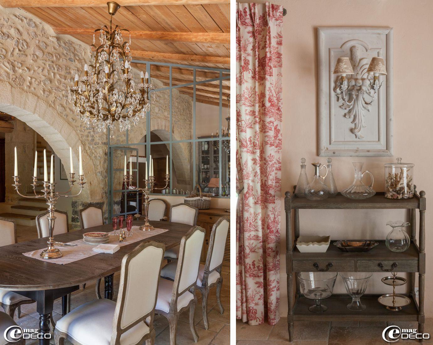 Lustre table chaises fauteuils et buffet 39 du bout du monde 39 dessertes 39 blanc d ivoire - Maison du monde chemin de table ...
