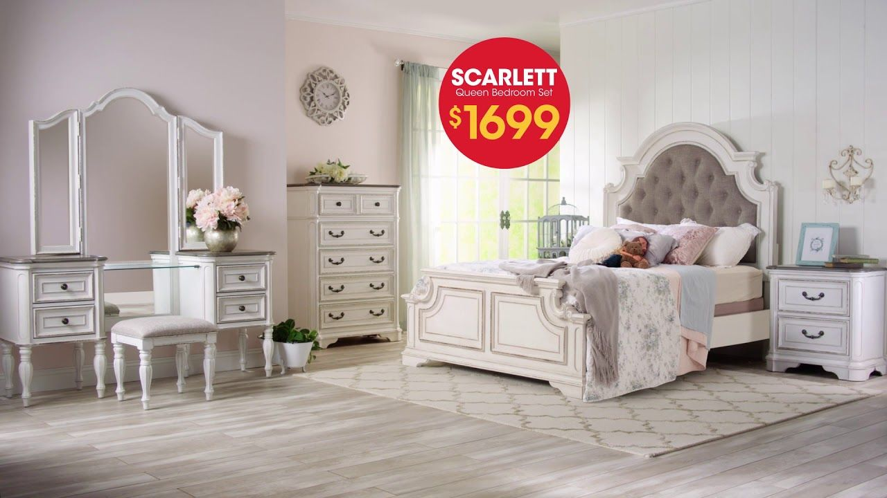 The Scarlett Queen Bedroom Set is $1699 at Bob's Discount ...