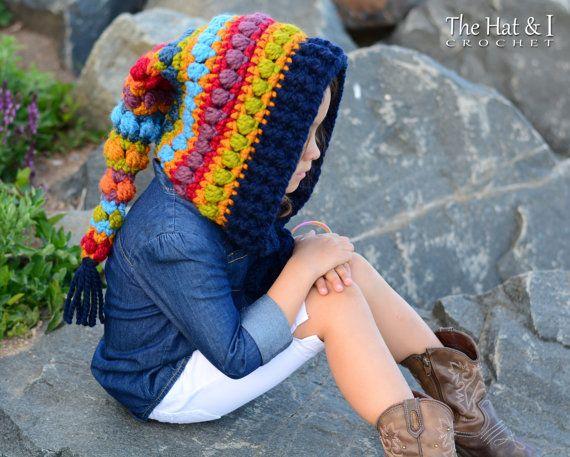 CROCHET PATTERN - Bohemian Nights Hoodie - chunky crochet pixie hood ...