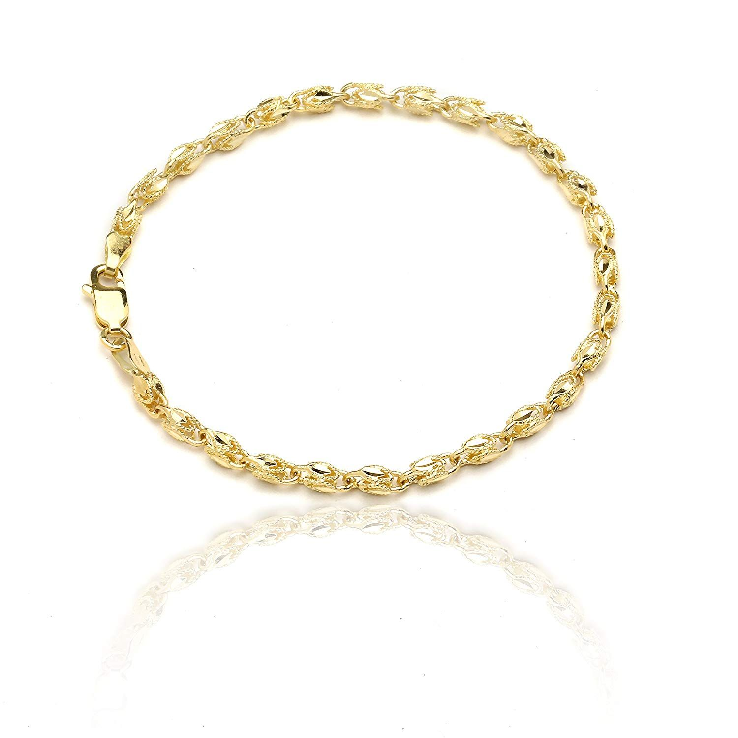 10k Yellow Gold Turkish Rope Chain Bracelet And Anklet For Women And Men 3 5mm Wonderful Of You Mens Gold Bracelets Gold Bracelet For Women Anklets Online