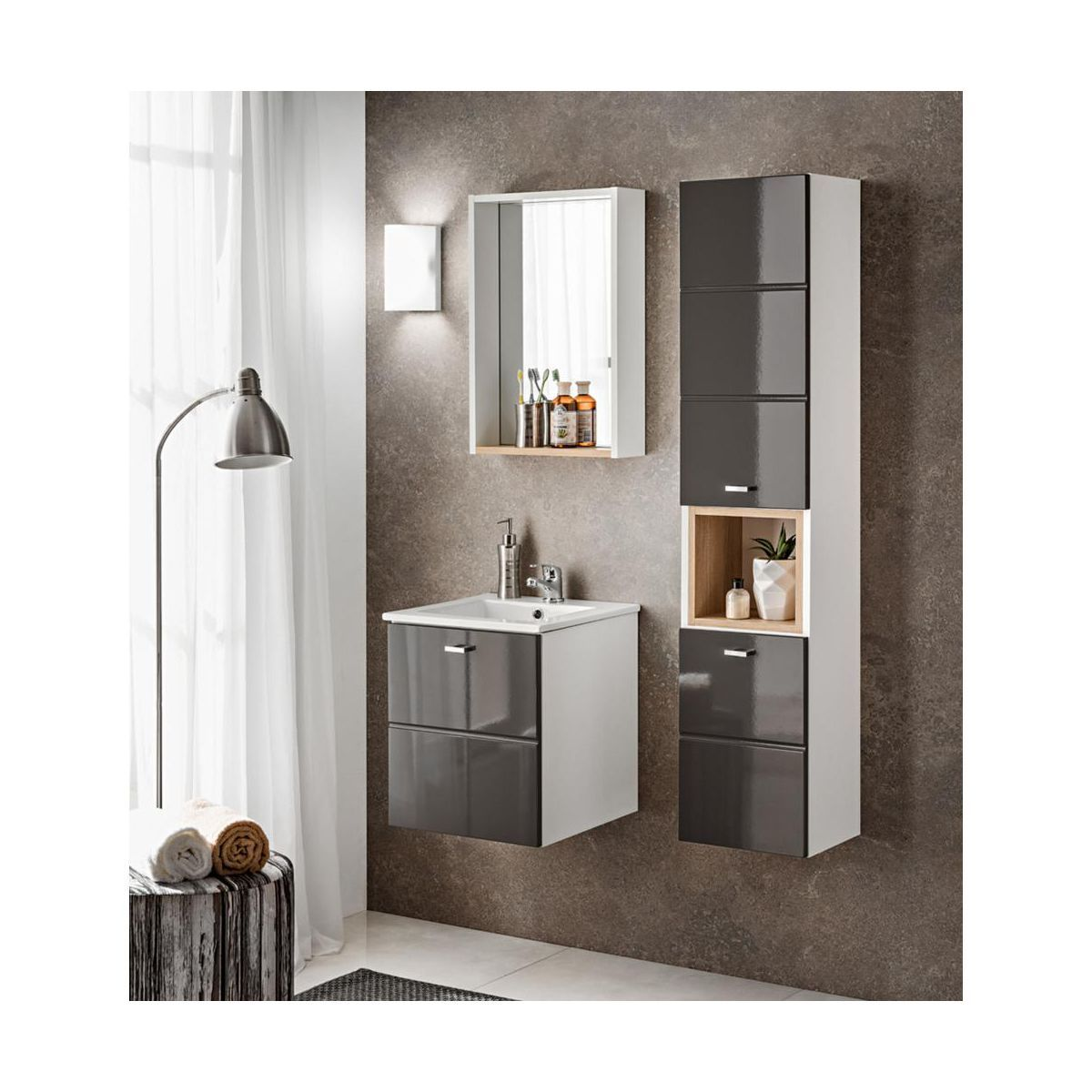 Umywalka Cfp 40d Comad Umywalki W Atrakcyjnej Cenie W Sklepach Leroy Merlin Diy Bathroom Vanity Diy Bathroom Bathroom Sets
