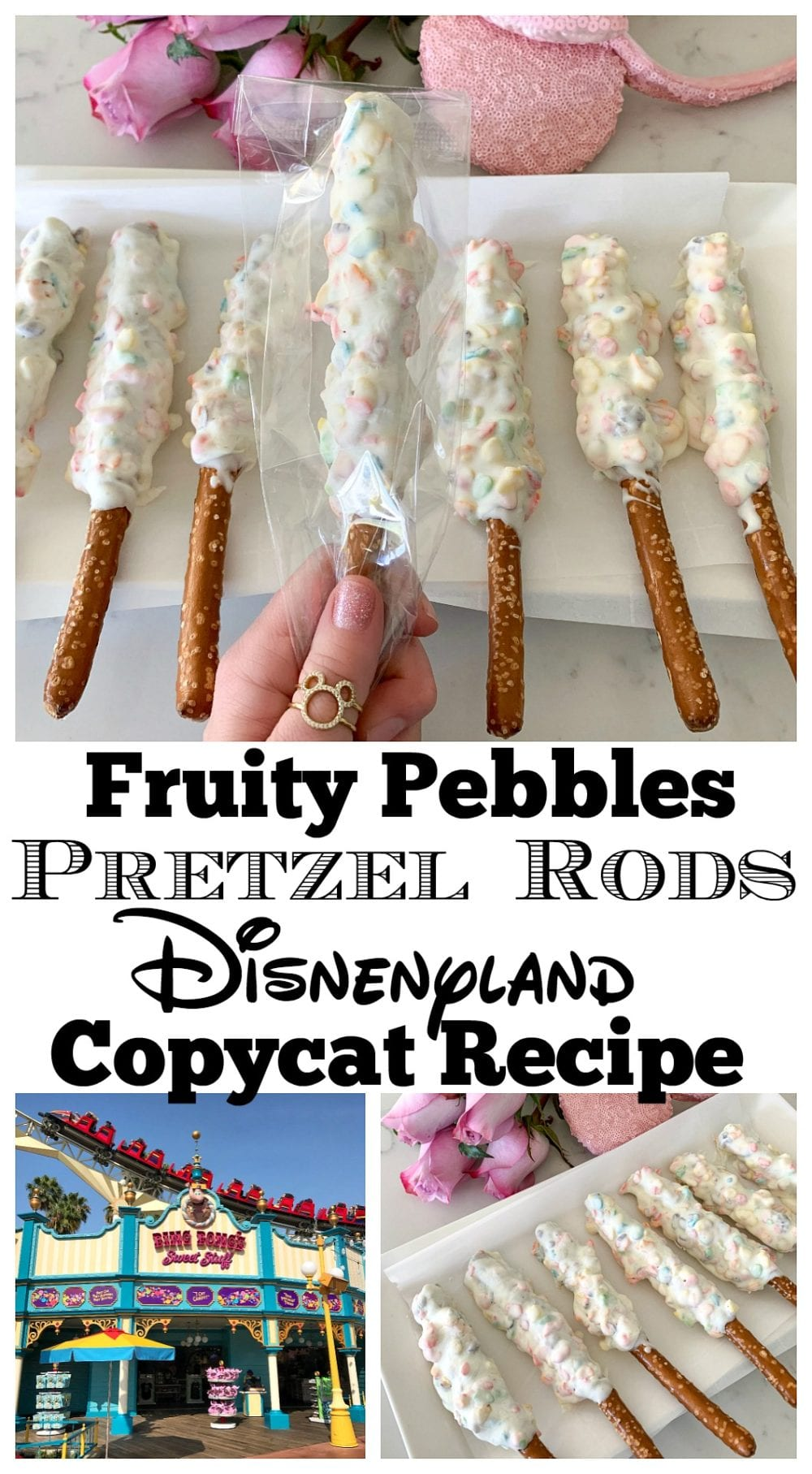 Fruity Pebbles Pretzel Rods #disneylandfood