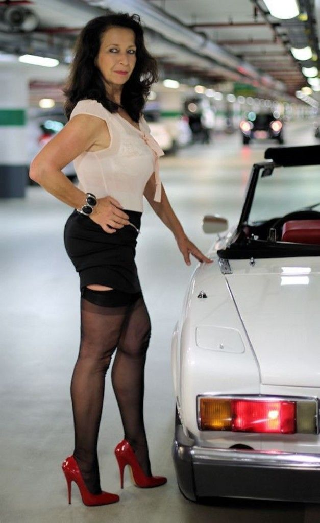 Sensual Hot mature in stockings usually the