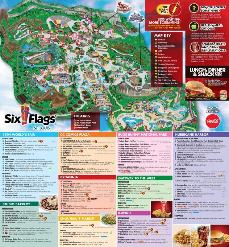 Six Flags St Louis Park Map St Louis Six Flags Six Flags Senior Trip