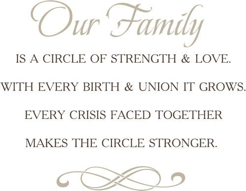 Family Quotes For Scrapbooking Family Circle Wall Decals