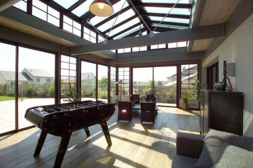 Vérandas de rêve  dedans ou dehors ? Verandas, Extensions and Lofts - salon sejour cuisine ouverte