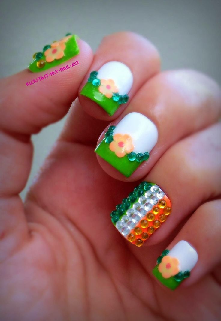 Only for the ring finger as an accent nail. Would prob do all-green ...