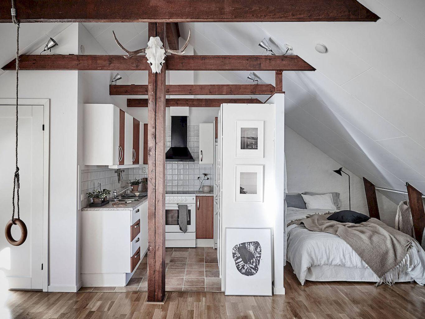 70 Cozy Attic Apartment Design & Decor Inspirations | Inneneinrichtung