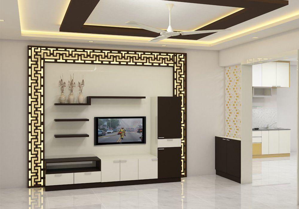 Scale Inch Interior Designers In Bangalore Living Room Tv Unit Designs Tv Room Design Hall Interior Design
