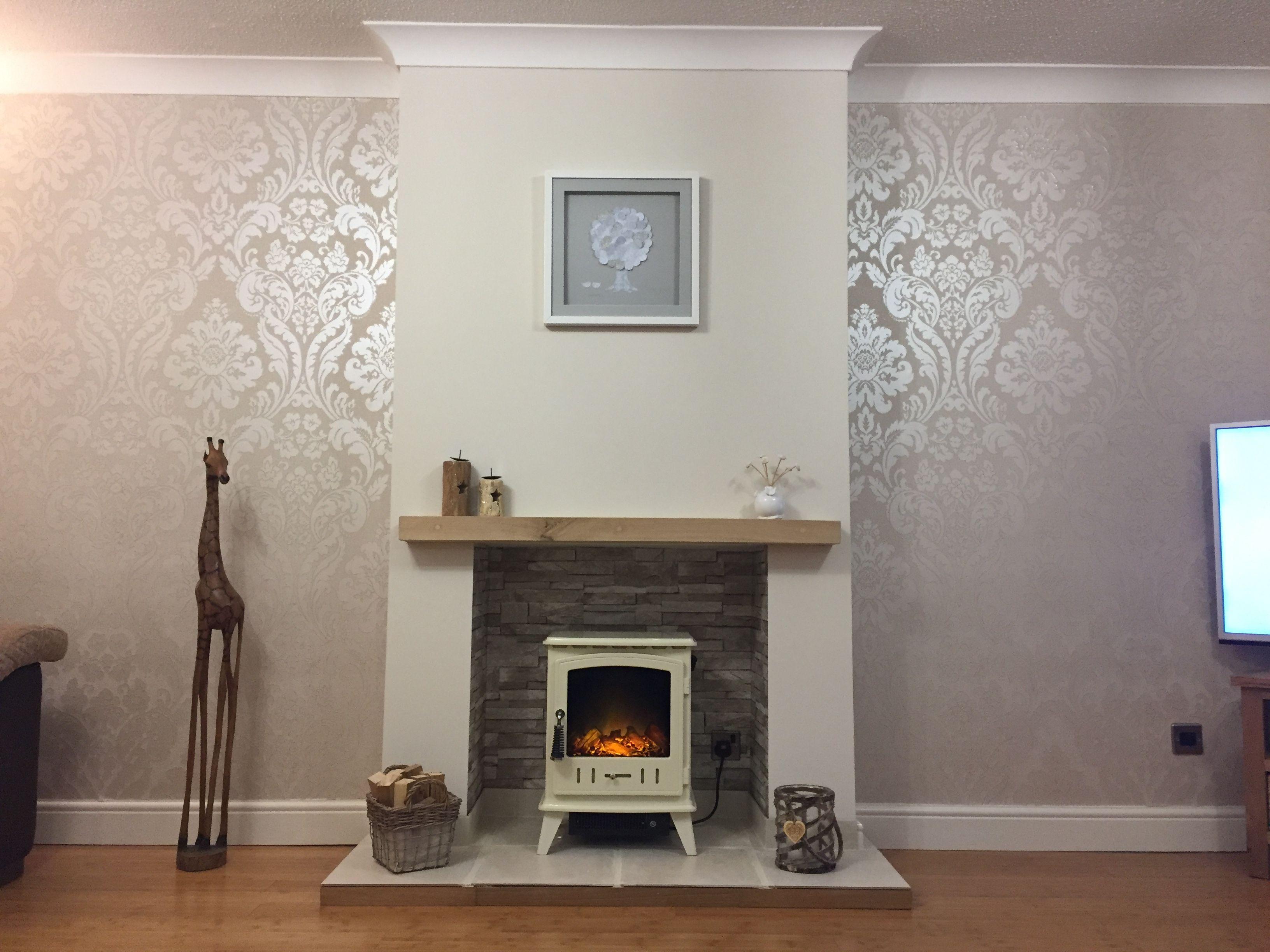 Electric Log Burner Cosy Living Room  furniture in 2019