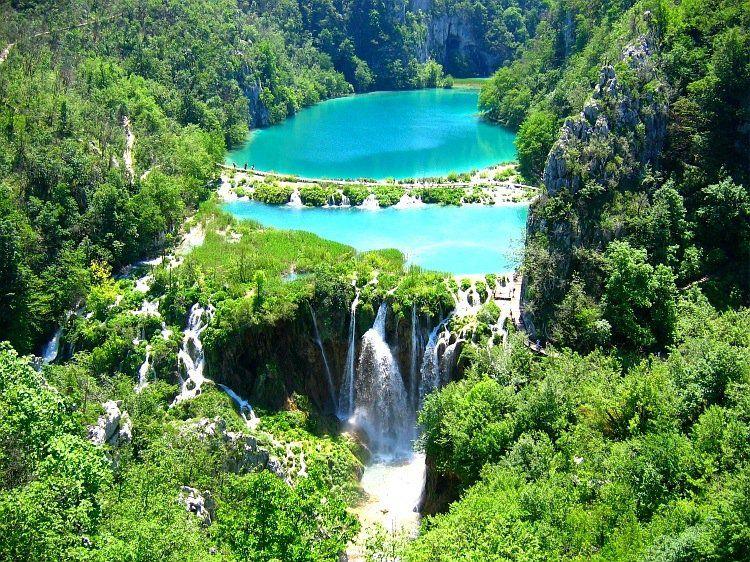 Lago Natureza Parque Croacia Plitvice lakes