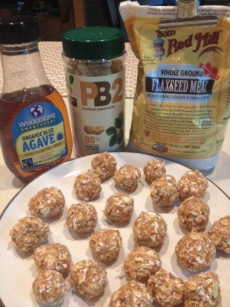 Photo of Protein balls. Maybe I will add some cocoa po