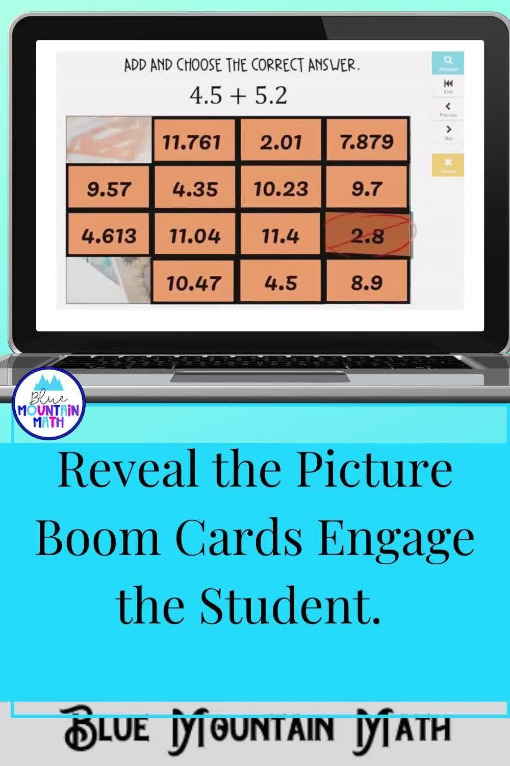 Add And Subtract Decimals Picture Reveal Boom Cards Digital Task Cards Video Video In 2020 Adding And Subtracting Subtraction Subtracting Decimals Adding subtracting decimals video