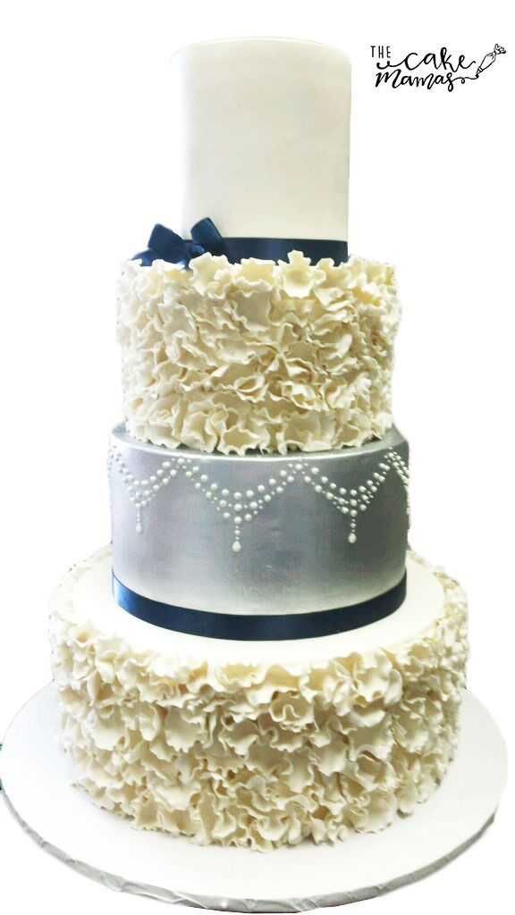 Textured Floral Wedding Cake Call Or Email To Order Your