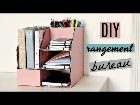 62 diy rangement en carton pour les founitures de bureau. Black Bedroom Furniture Sets. Home Design Ideas