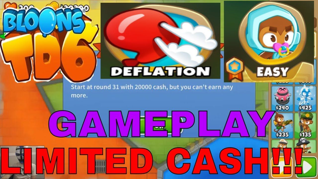 BLOONS TD 6 CUBISM MAP on EASY - DEFLATION MODE! | BLOONS TD