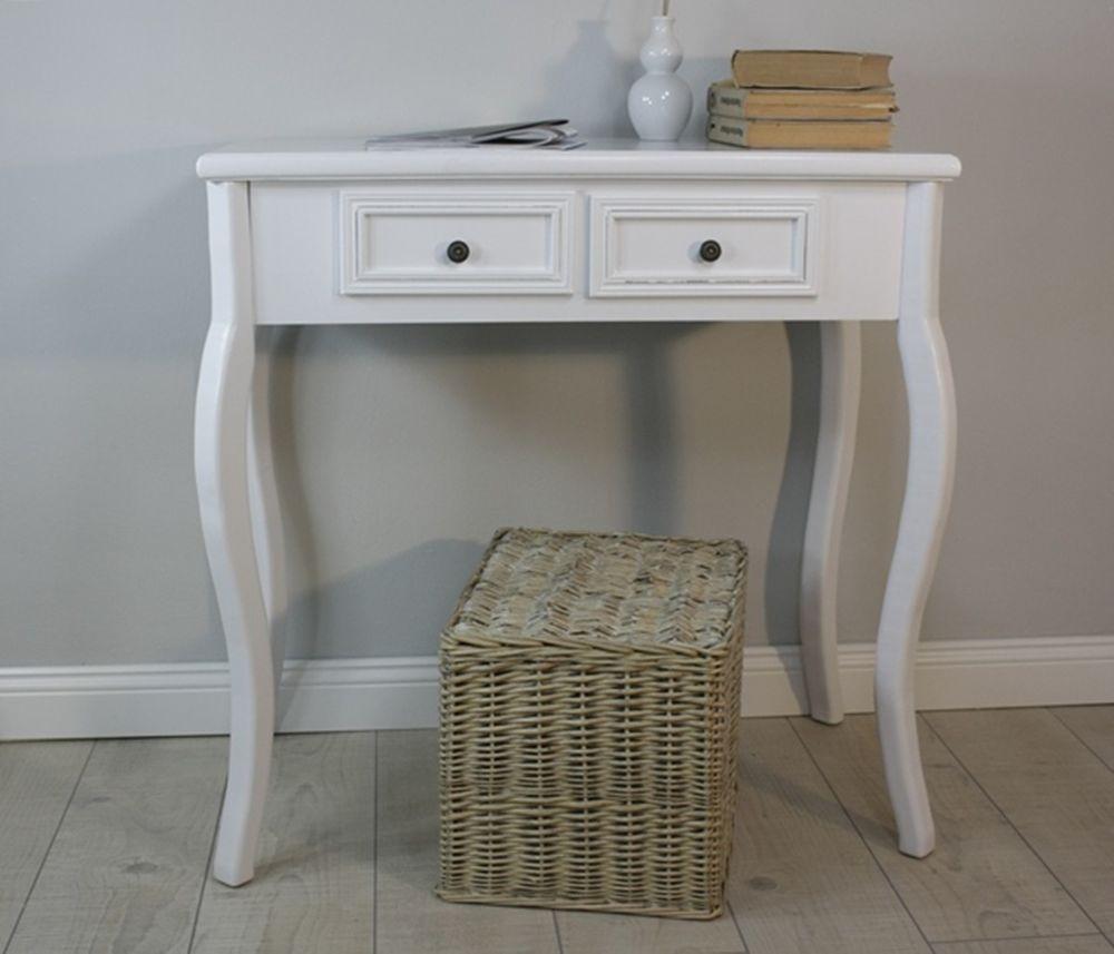 Beistelltisch antik  Details zu Konsolentisch Holz Tisch Schubladen weiß Landhaus ...