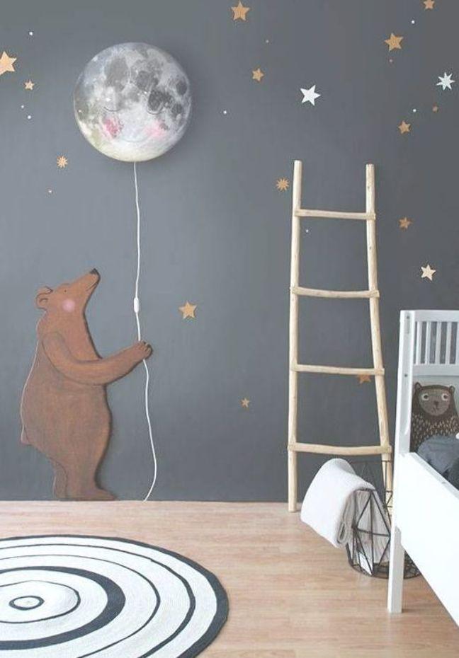 Chambre Bébé Thème étoile Lampe Applique Lune Mur étoilé