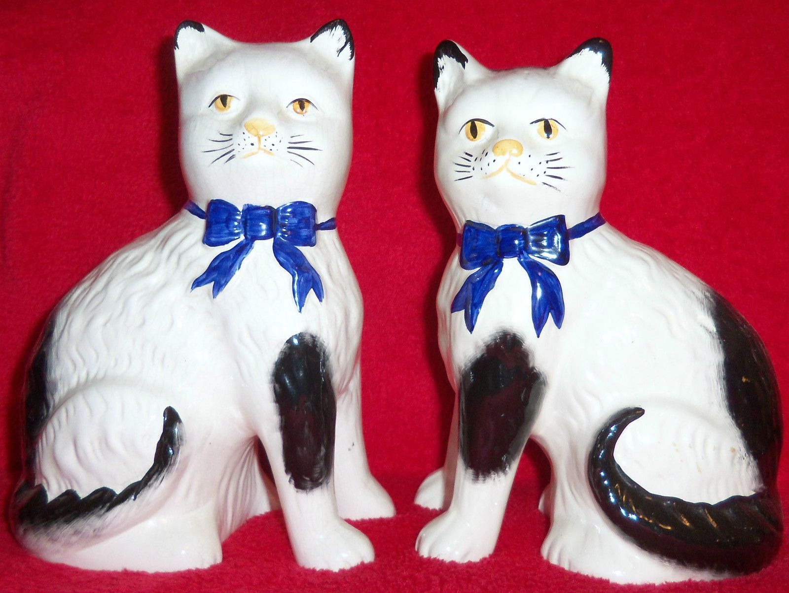 Pair of Vintage Split Legs Staffordshire Mantle Cats 3 Day Auction Only | eBay
