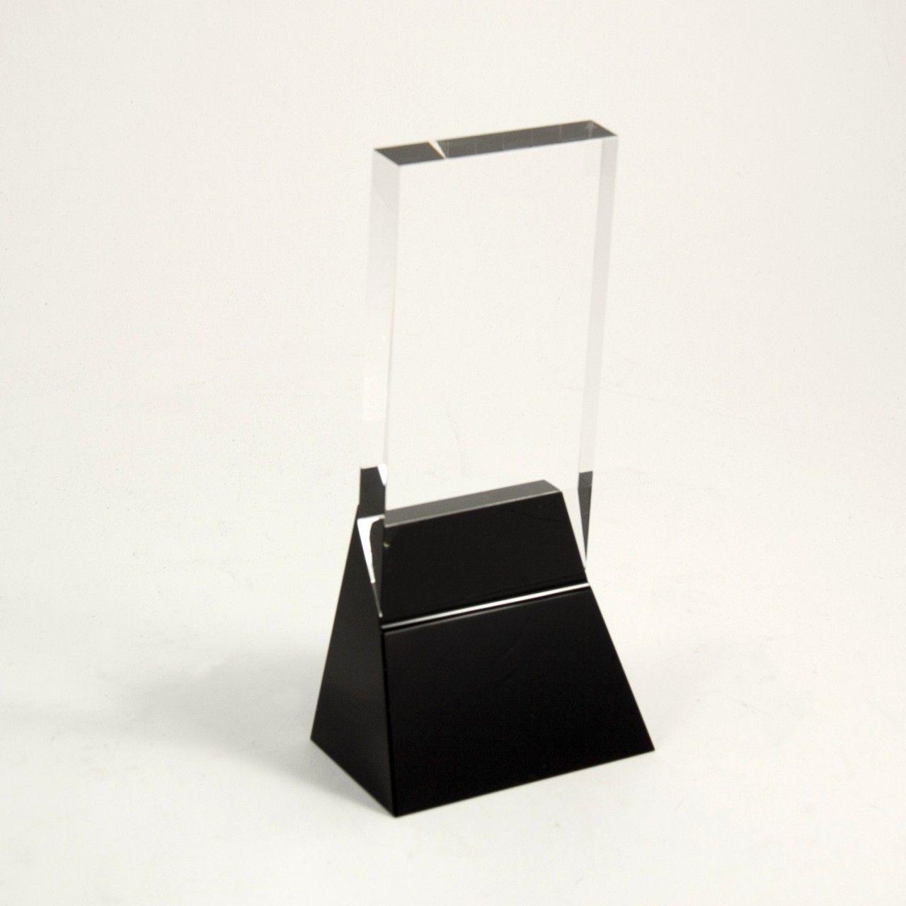 """Bey-Berk 8 1/4"""" Crystal Trophy"""