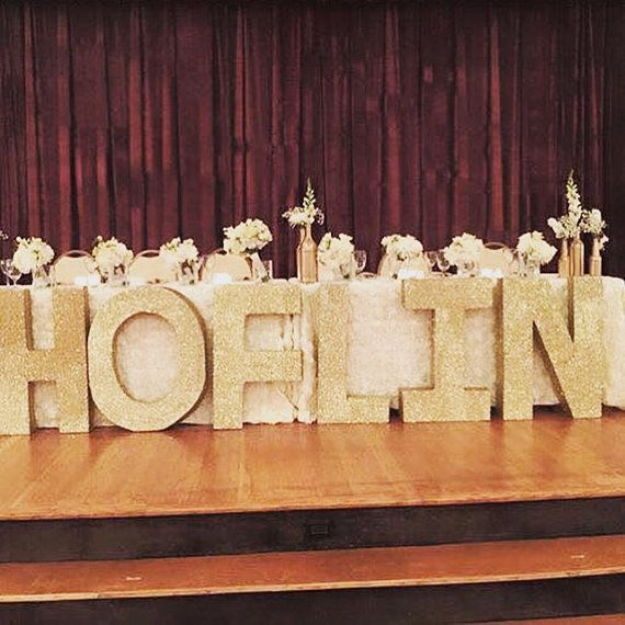 Birthday Party Props Decorations Styrofoam Letters Large Free Standing Signs