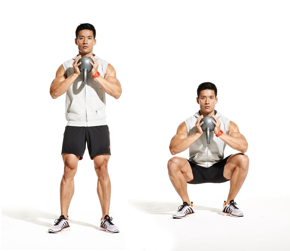Kettlebell Workout For Men: Goblet Squat Core Kettlebell Workout