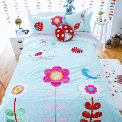 Handmade Patchwork Applique Embroidery Comforter Bedding