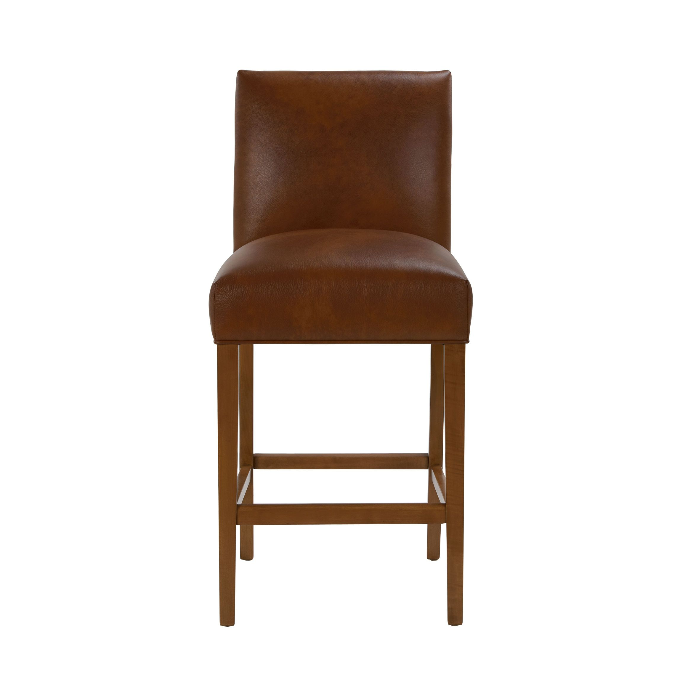 JVG   Thomas Leather Barstool   Ethan Allen