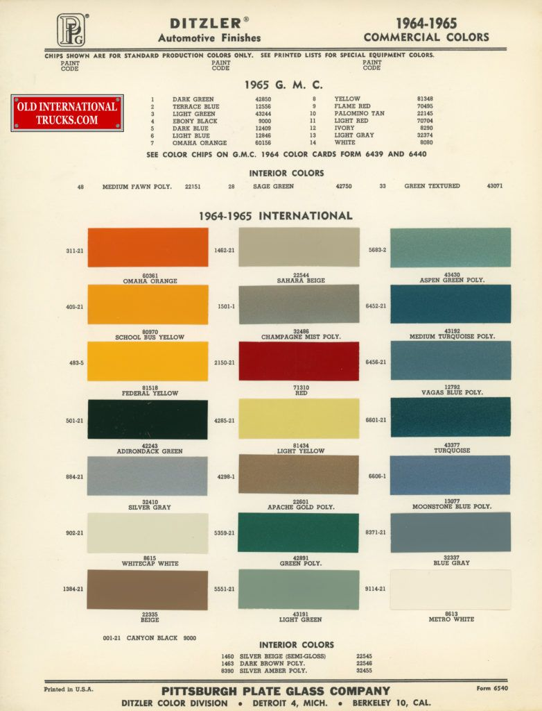 1964 1964 standard colors color charts old international truck 1964 1964 standard colors color charts old international truck parts nvjuhfo Choice Image
