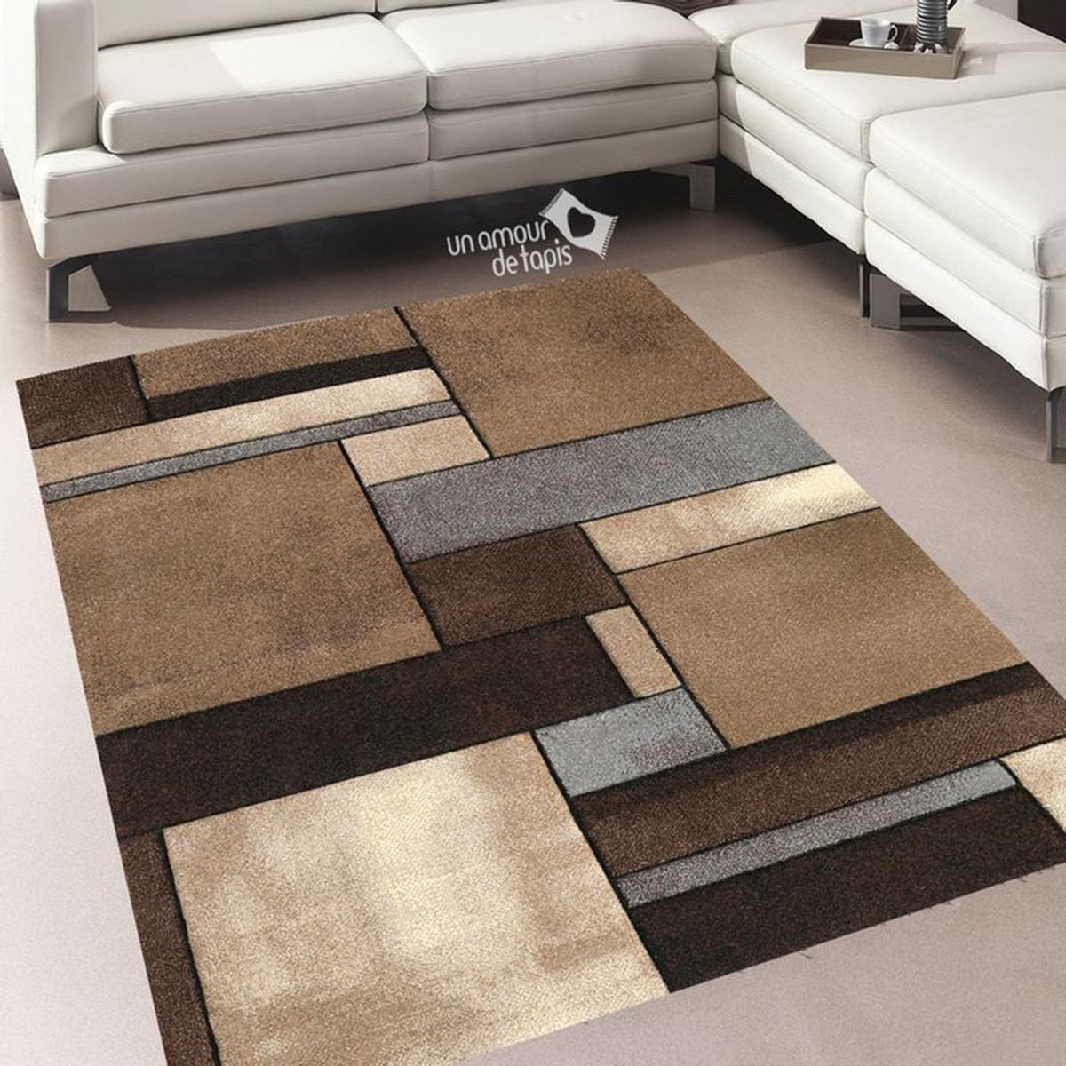 Tapis Salon Moderne Et Design Brillance 661 En 2020 Tapis Geometrique Salon Moderne Tapis Salon