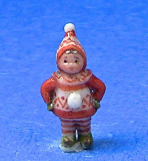 Okubo Originals miniature elf in red and white by CreationCottage