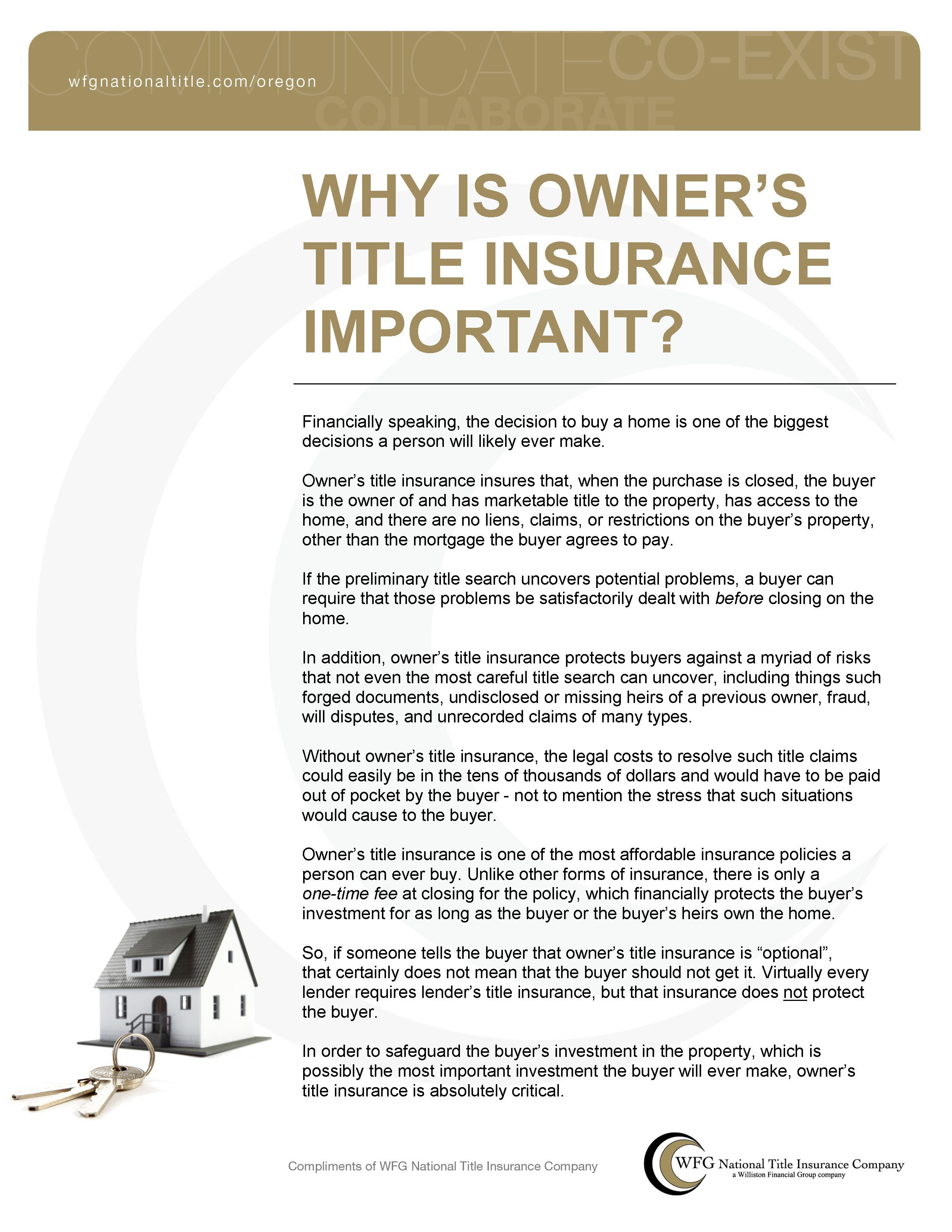 Owners Title Insurance Title Insurance Insurance Marketing