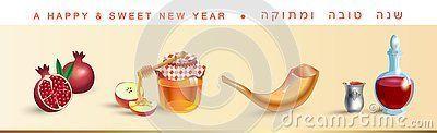Rosh Hashanah greeting card - Jewish New Year elements. Shana Tova! Hebrew text - Have a sweet year. Honey and apple, shofar, pomegranate, vintage torah scroll kiddush cup banner Rosh hashana sukkot Jewish Holiday page vector illustration #shanatovacards Rosh Hashanah greeting card - Jewish New Year elements. Shana Tova! Hebrew text - Have a sweet year. Honey and apple, shofar, pomegranate, vintage torah scroll kiddush cup banner Rosh hashana sukkot Jewish Holiday page vector illustration #shana #shanatovacards
