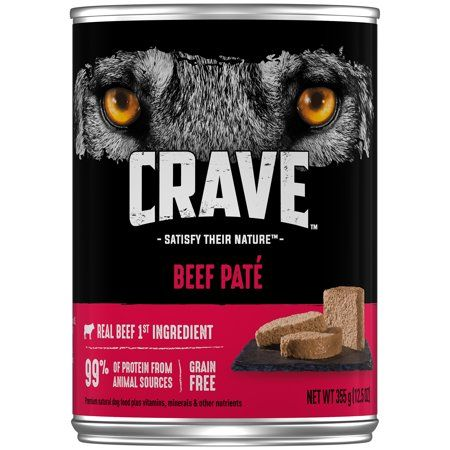 Crave Grain Free Adult Canned Wet Dog Food Beef Pate 12 5 Oz Can