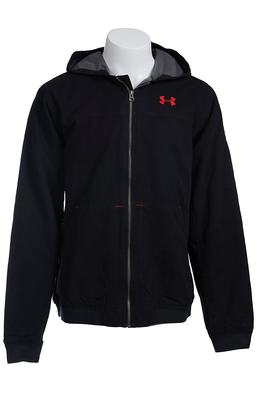 innovative design a234e 4555a Under Armour® Men s Black UA Burley Hooded Jacket 1238347001
