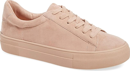 08a0abab3d8 Women's Steve Madden Gisela Low Top Sneaker in Pink Suede. Soft ...