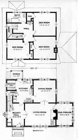 Standard Home Plans For 1926 The Berkeley House Plans House Layouts Vintage House Plans