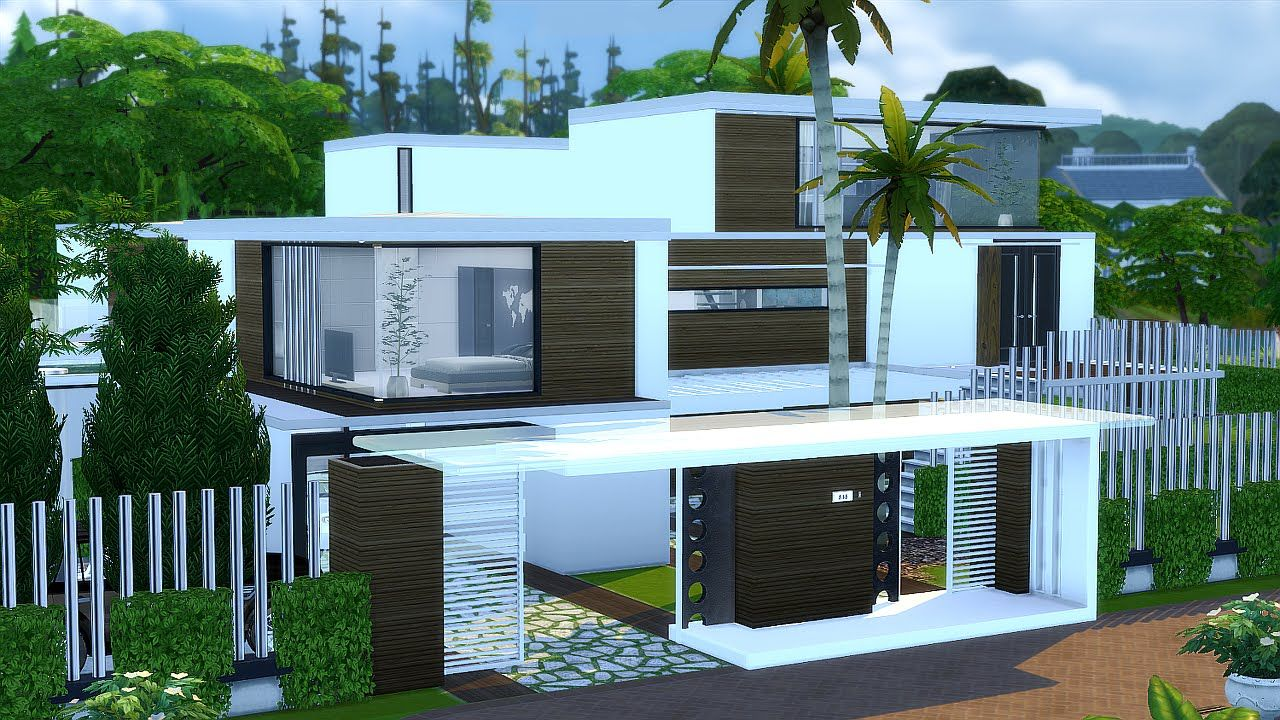 Sims 4 Modernes Haus Download Sim3 Pinterest