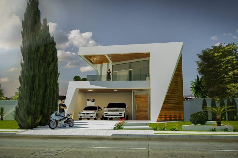 Plano de casa con un diseño innovador FAMILIA y CONVIVENCIA - fachadas contemporaneas