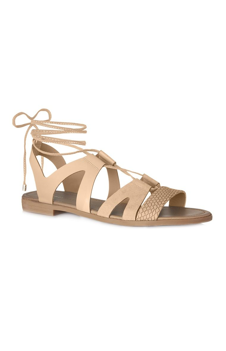 eb0070cb6 Primark - Sandália tipo gladiador caramelo | {i have nothing to wear ...