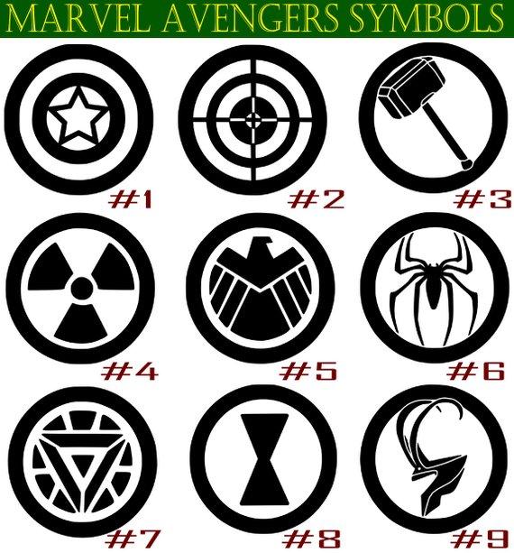 Personalised Avengers Wording Colour Wall Art Sticker Cut Vinyl Transfer 8 sizes