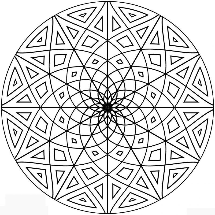 Coloring. Free Geometric Design Coloring Sheets Free Printable ...