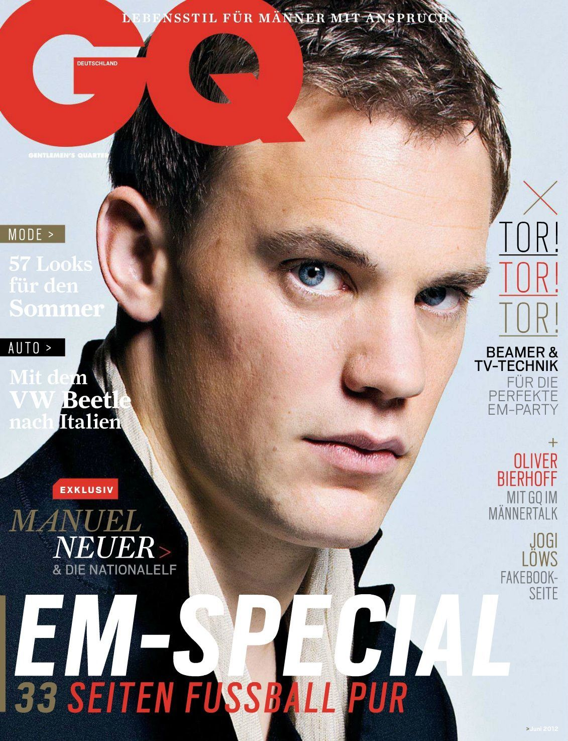 GQ Germany June 2012: Manuel Neuer by Michel Comte