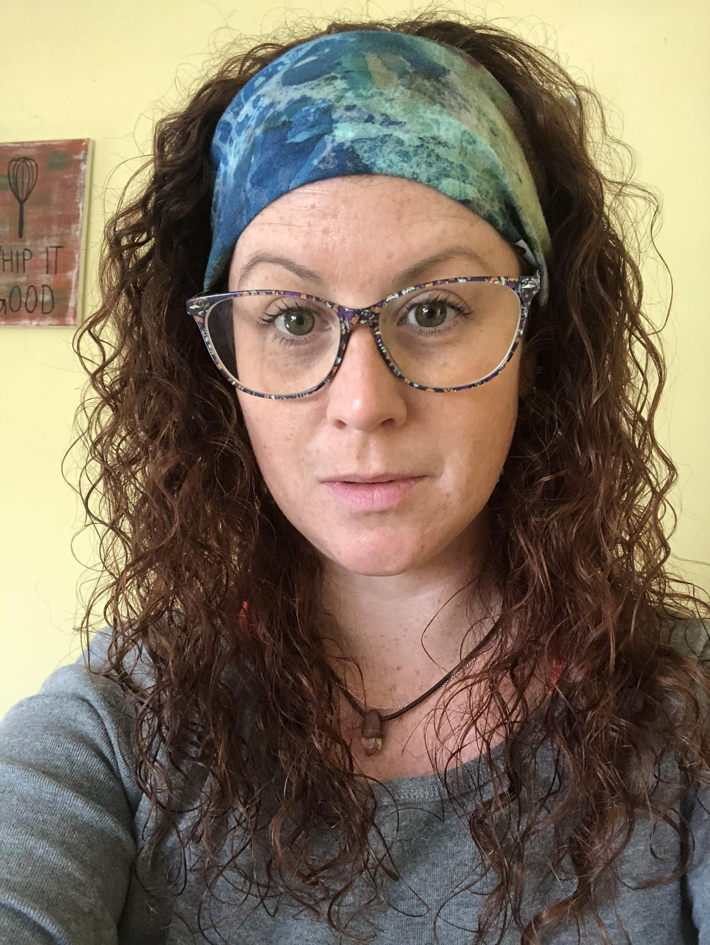IMO the best accessory for curly hair: the Buff headband. This is