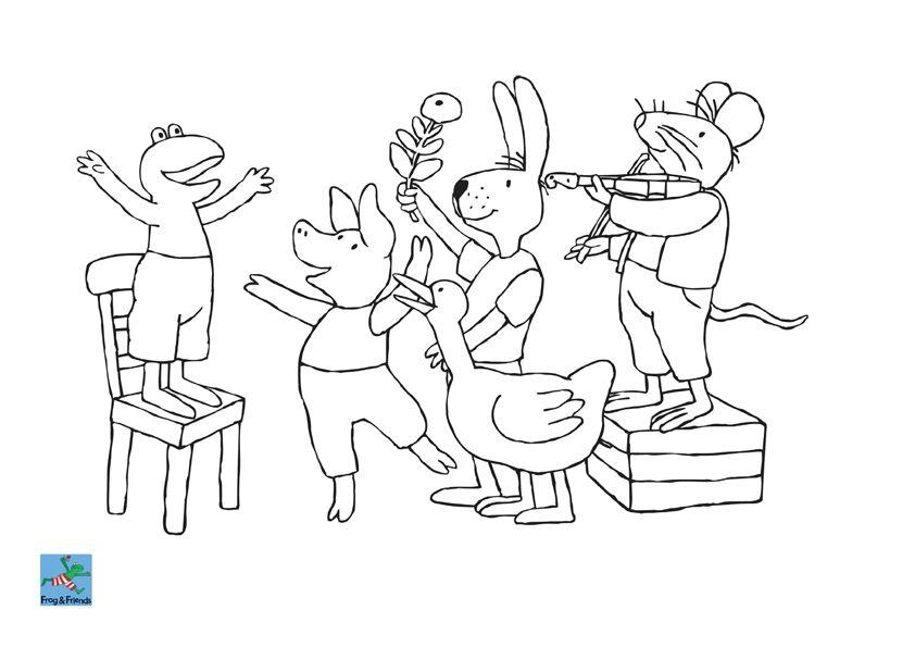 kleurplaat kikker feest kinderboekenweek 2014