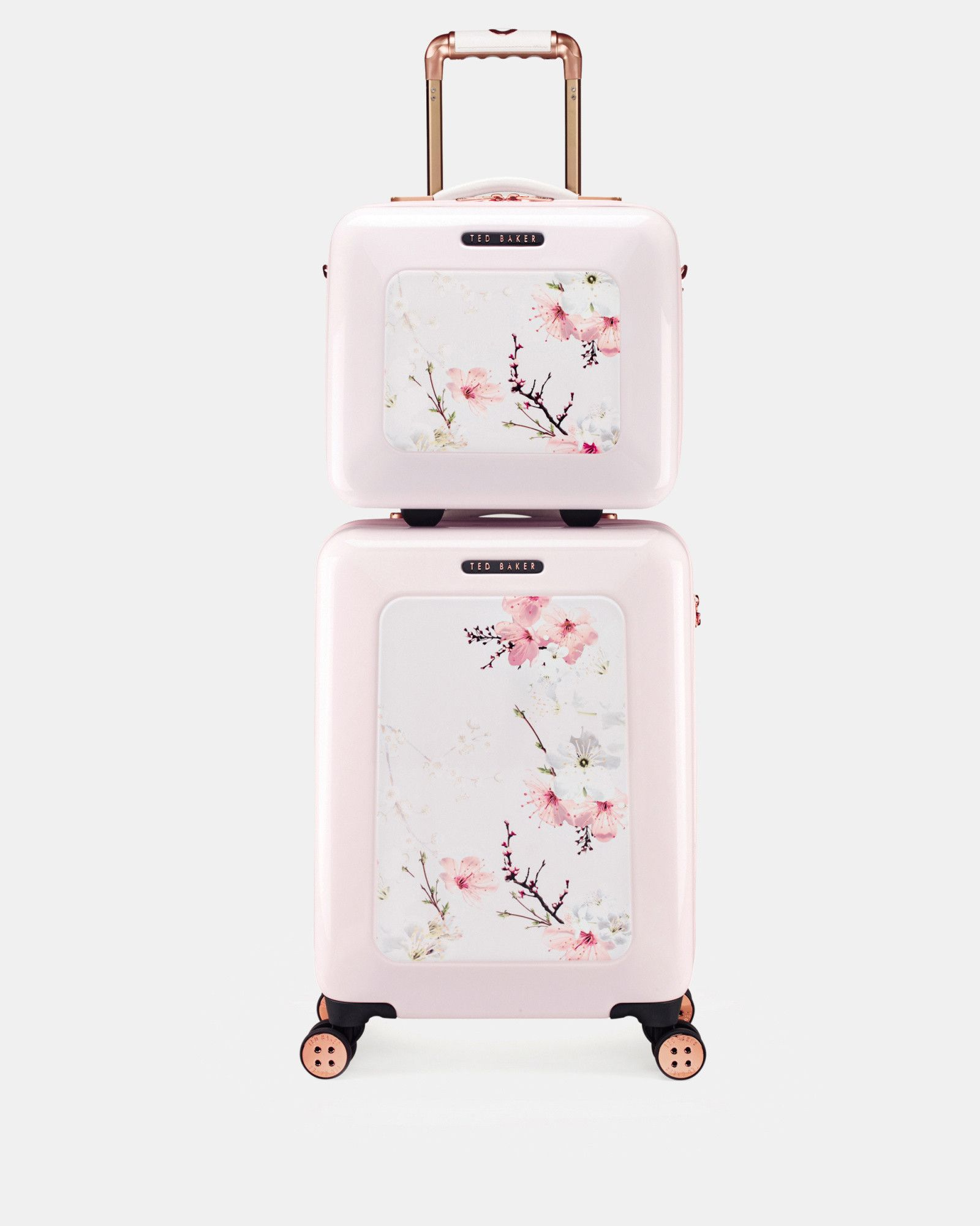 19c7e91bd6735 Kosmetikkoffer mit Oriental Blossom-Print - Babyrosa