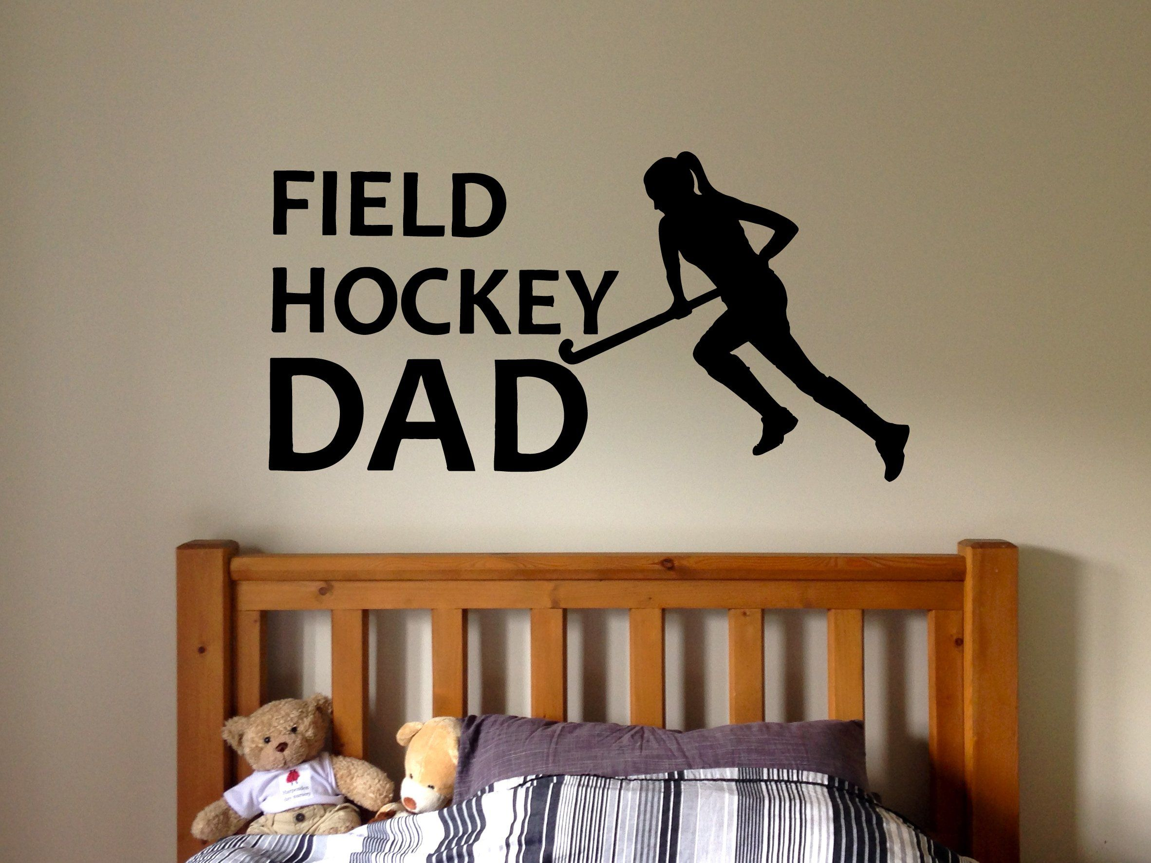 Wall decal sticker bedroom field hockey sport quote team game hockey
